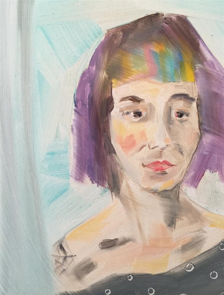 """159 Colorful Tracey"" original fine art by Jenny Doh"