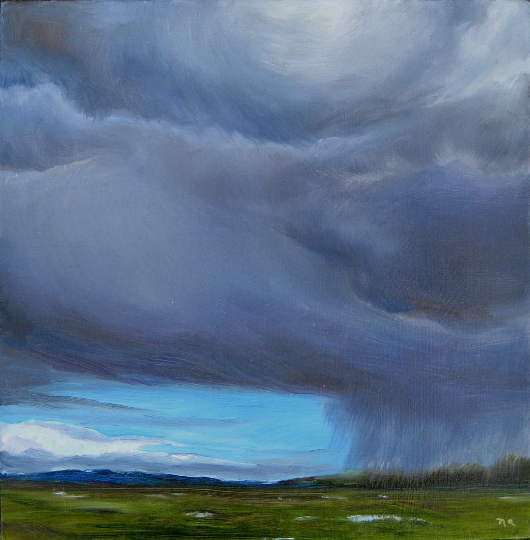 """Incoming"" original fine art by Nicki Ault"