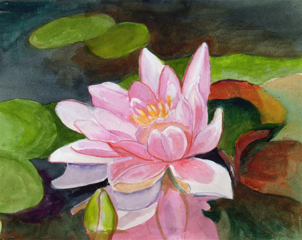 """Pink Water Lily "" original fine art by Bunny Griffeth"