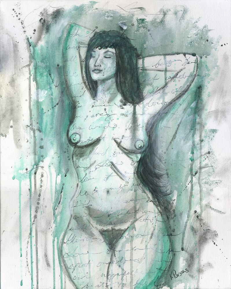 """""""She Owned her Curves"""" original fine art by Kali Parsons"""