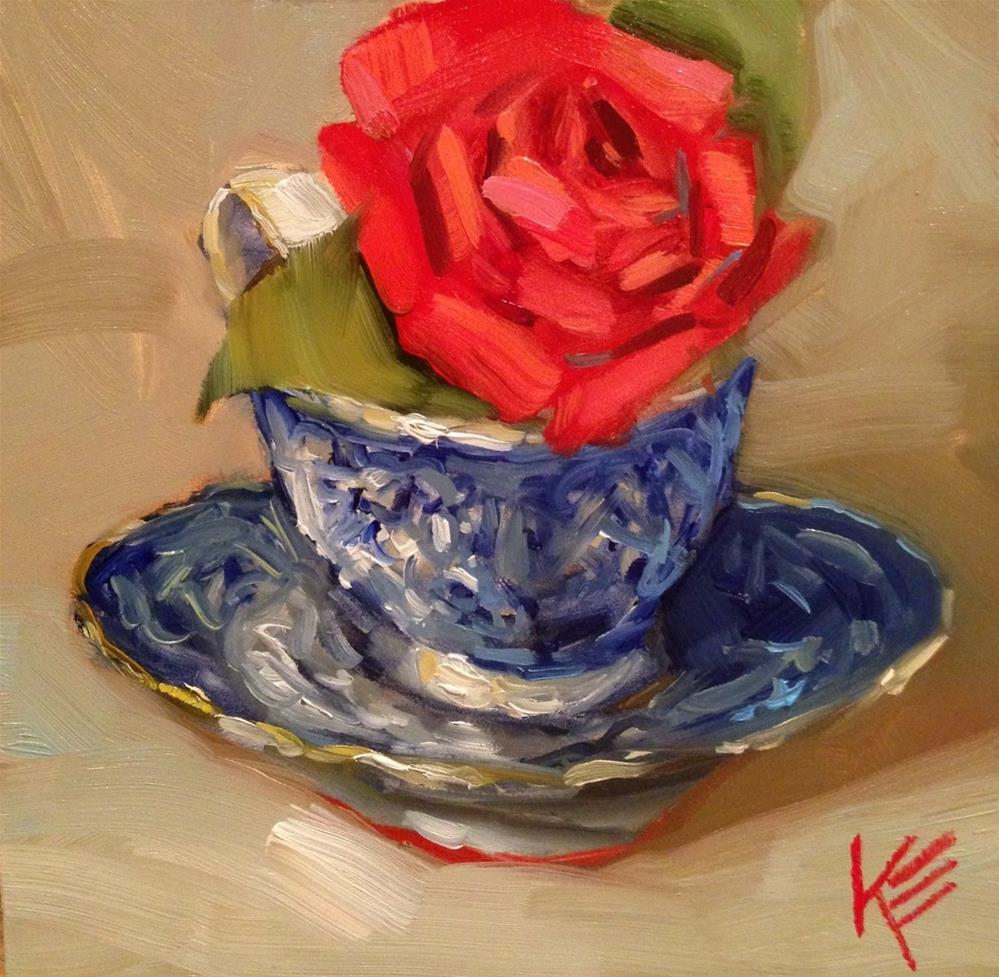 """""""Winter Tea"""" original fine art by Krista Eaton"""