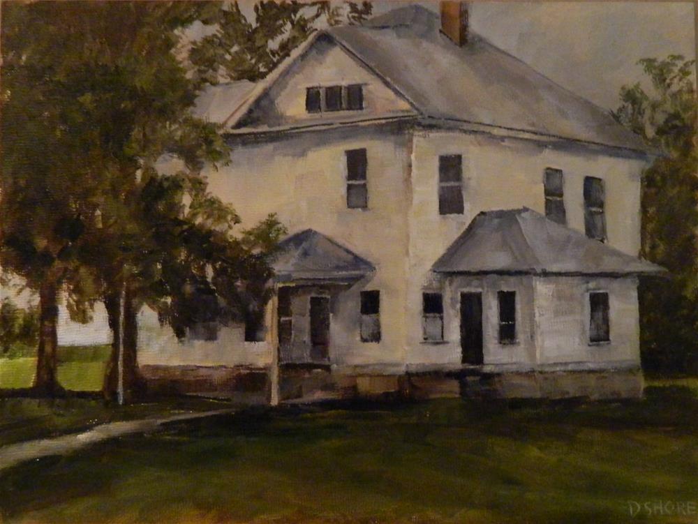 """Jacobsen's Farmhouse"" original fine art by Debra Shore"