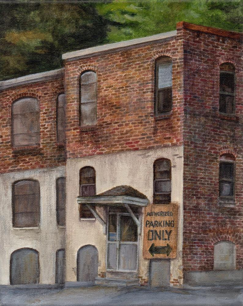 """""""Authorized Parking Only"""" original fine art by Debbie Shirley"""