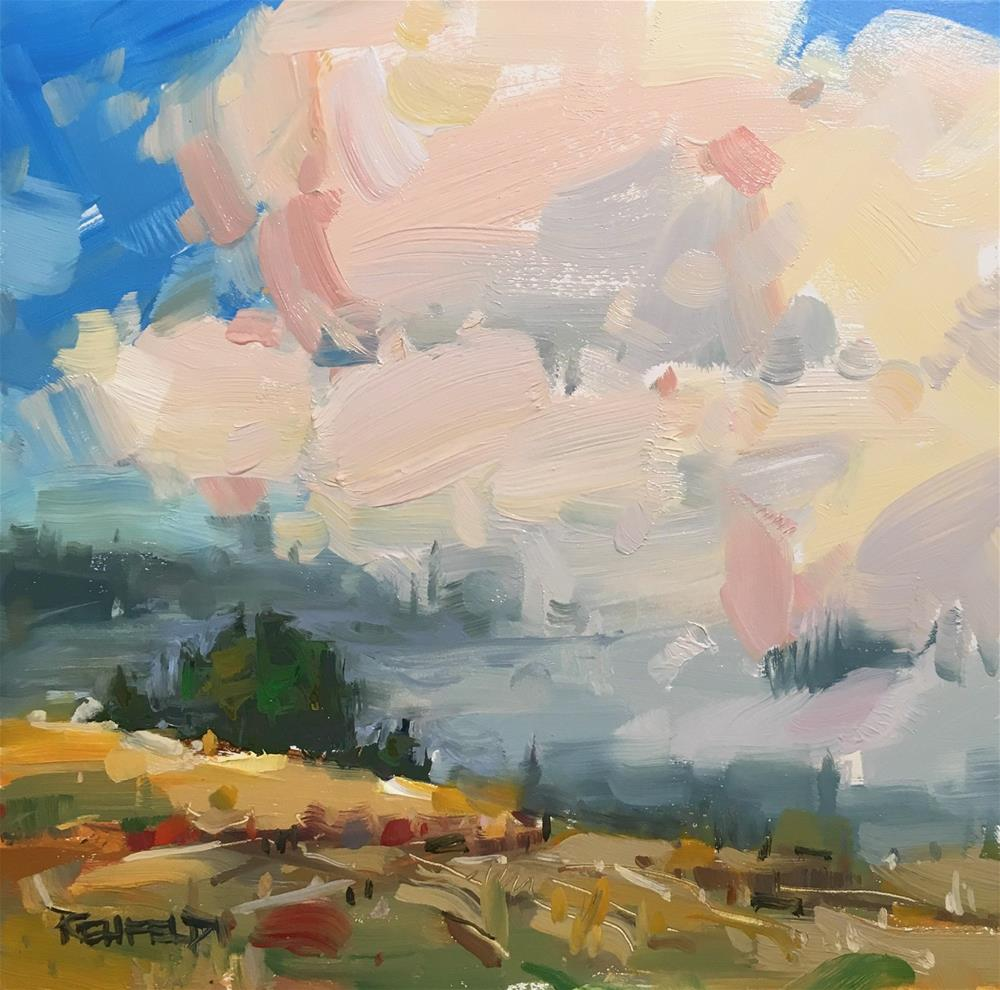 """Pacific Northwest Atmosphere"" original fine art by Cathleen Rehfeld"