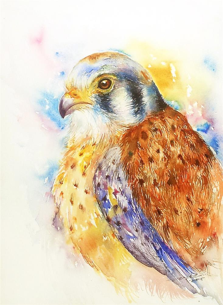 """Sparrow Hawk"" original fine art by Arti Chauhan"