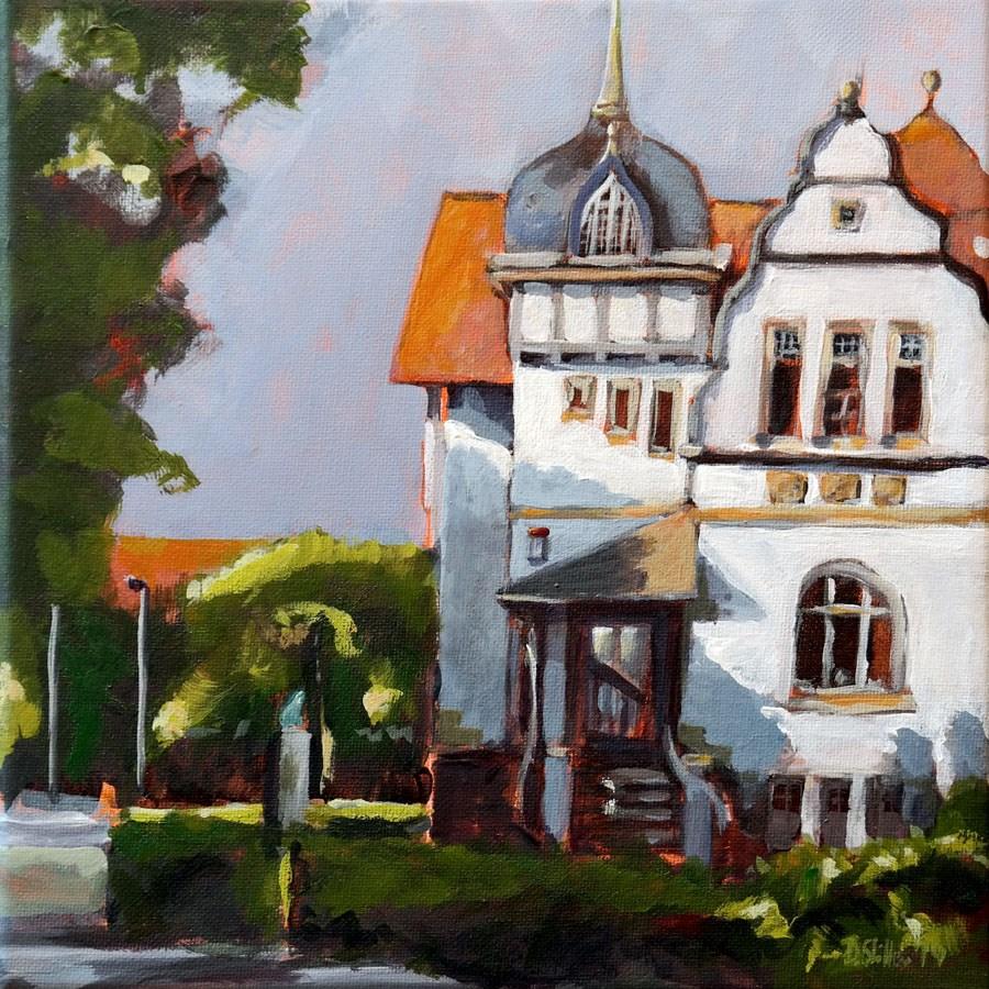 """1021 Private Clinic"" original fine art by Dietmar Stiller"