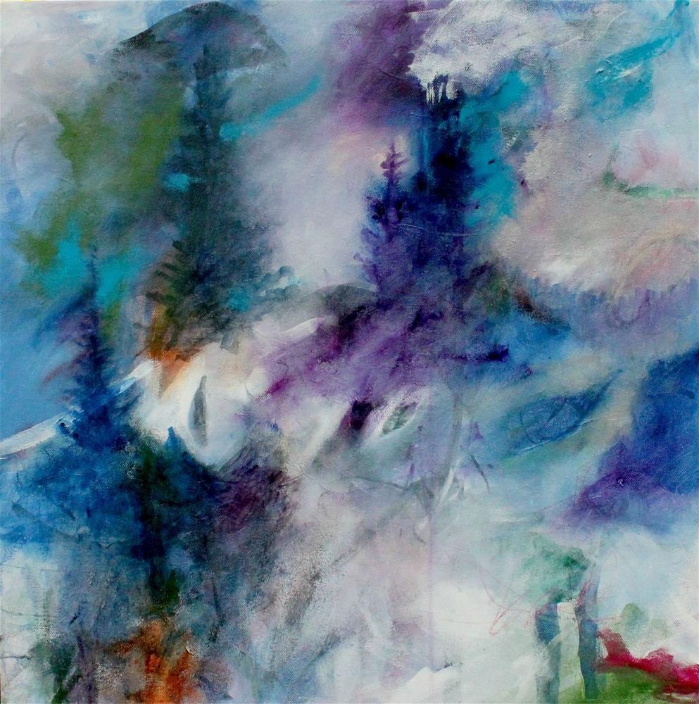 """The Fog Creeps over the Mountain"" original fine art by Kerri Blackman"