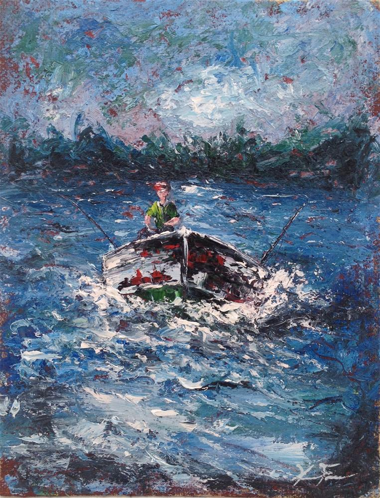"""Stormy return"" original fine art by Ken Fraser"