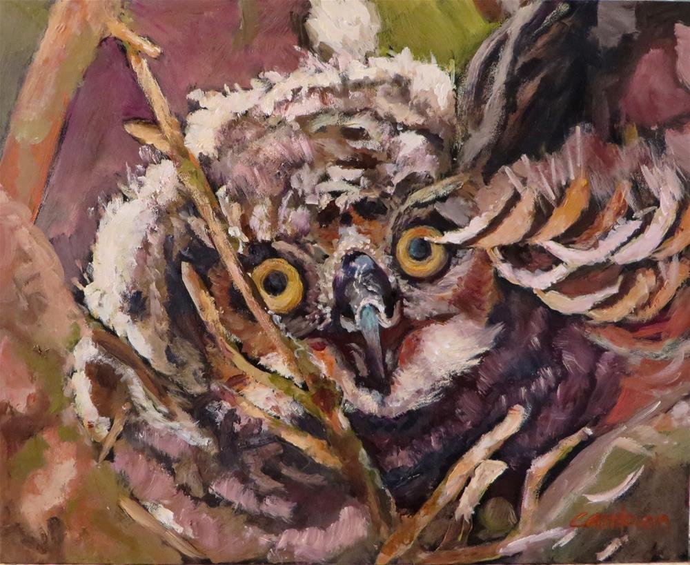 """""""852 Peek-a-boo"""" original fine art by Diane Campion"""