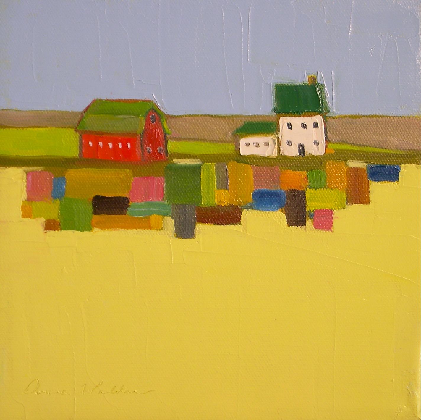 """""""Quilted Land V"""" original fine art by Donna Walker"""