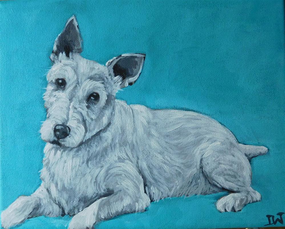 """Terrier"" original fine art by Daryl West"