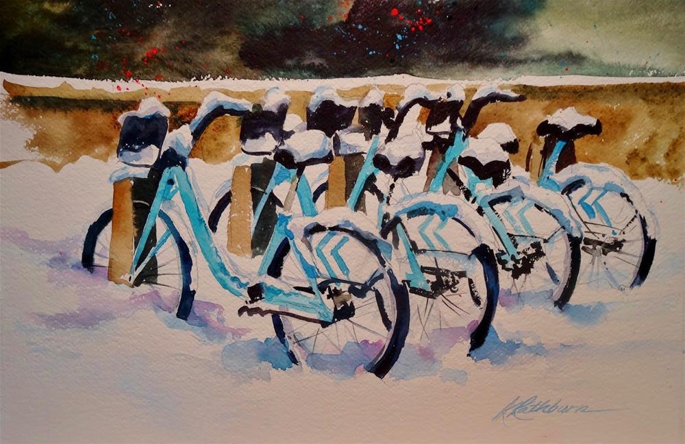 """Chicago Biking"" original fine art by Kathy Los-Rathburn"