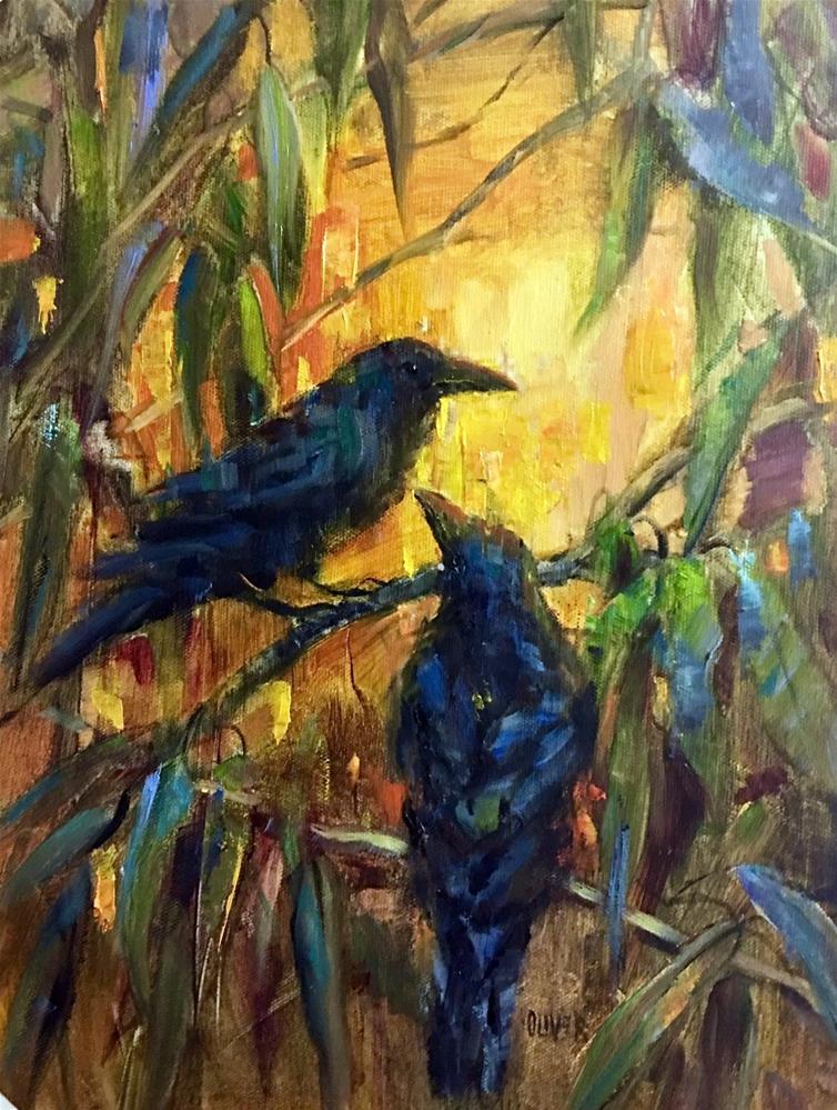"""""""Golden Light"""" original fine art by Julie Ford Oliver"""