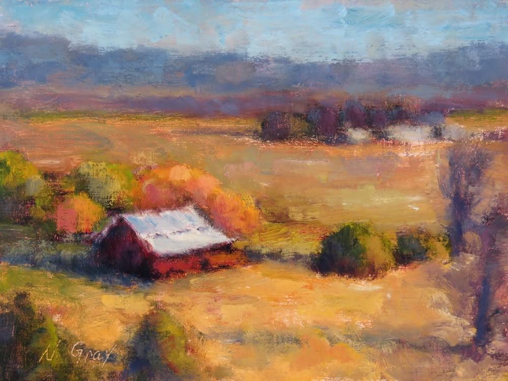 """Homestead in October"" original fine art by Naomi Gray"
