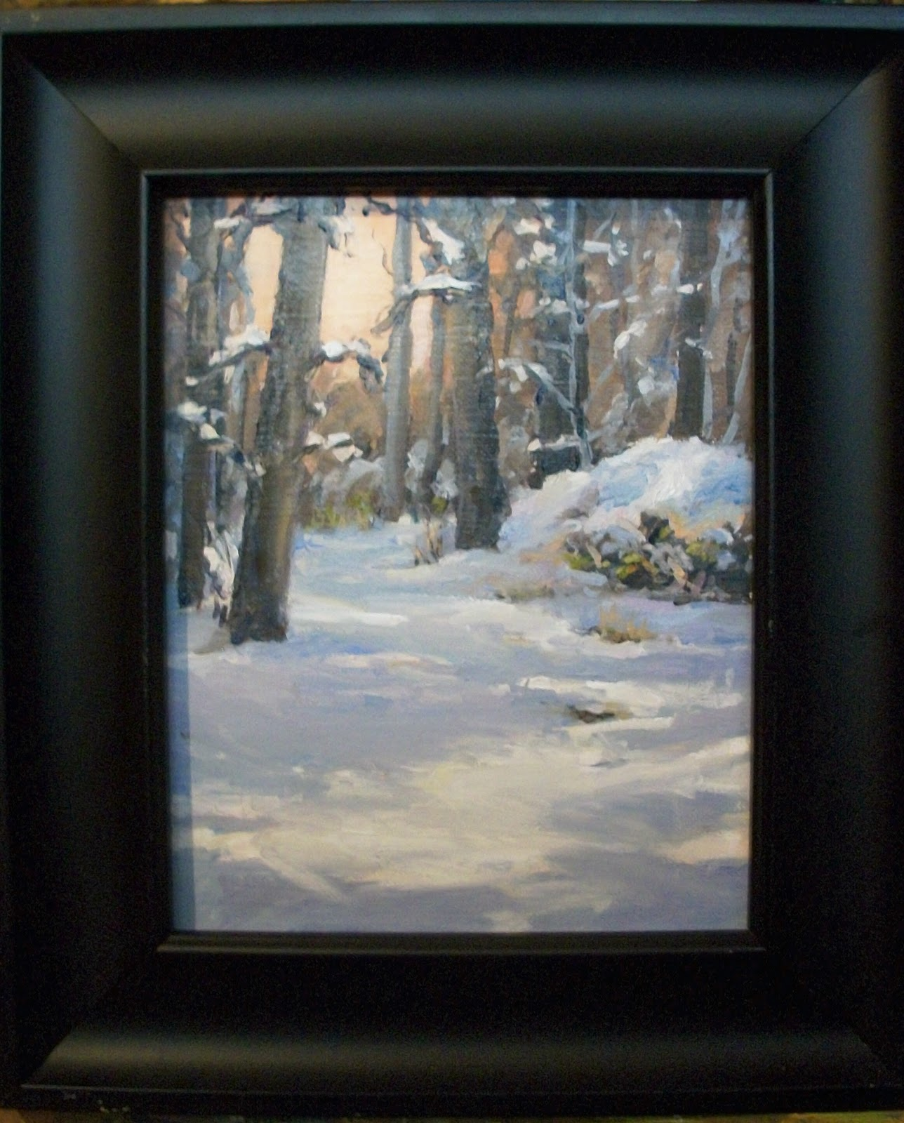""""""" Whats all this white stuff?"""" original fine art by Doug Carter"""