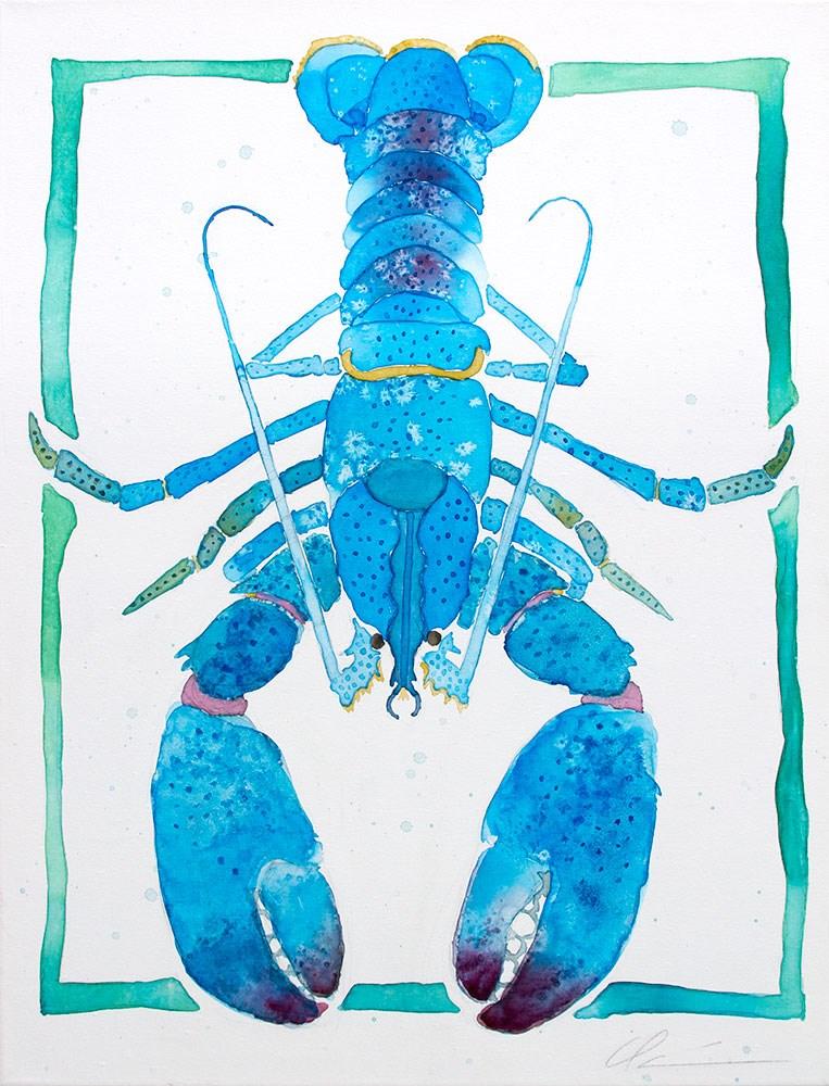 """Blue Lobster"" original fine art by Clair Hartmann"
