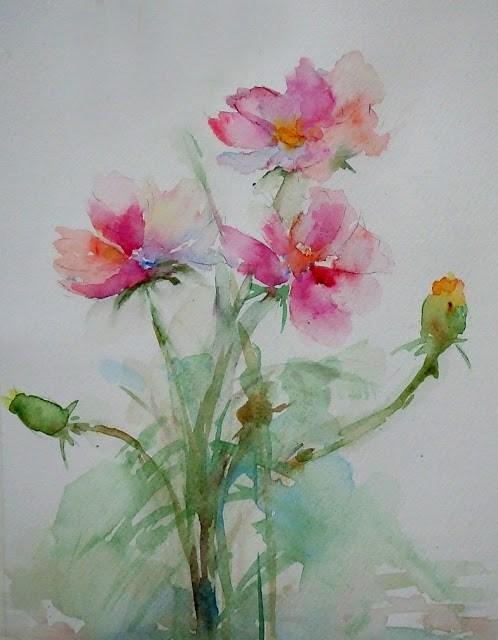 """study-JR"" original fine art by Mitsuru Cope"