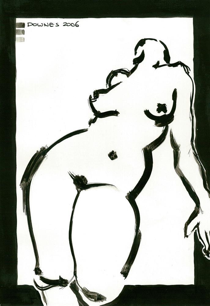 """""""227 ORIGINAL LIFE SKETCH 9"""" original fine art by Trevor Downes"""