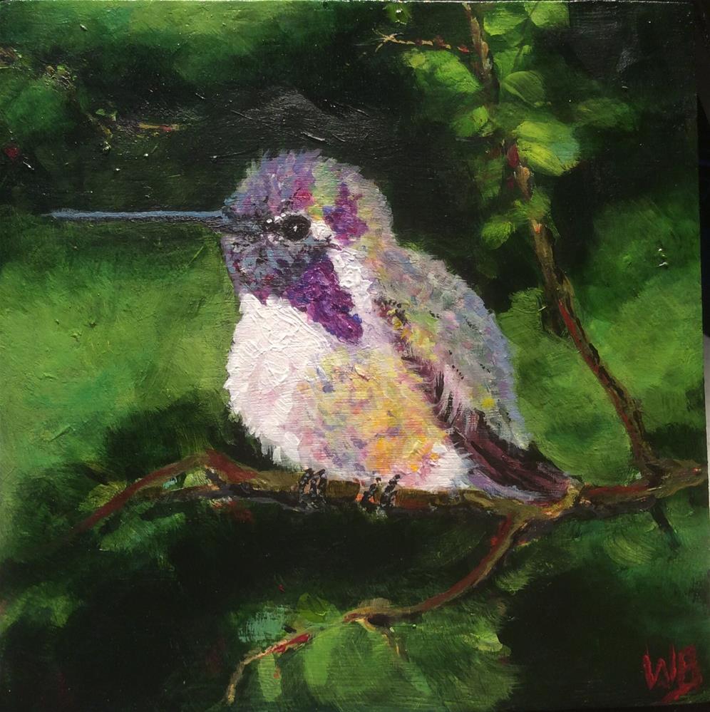 """Hiding Out"" original fine art by wendy black"