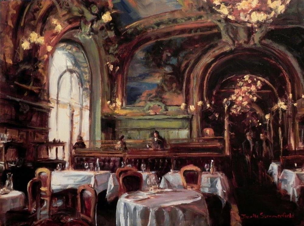 """Le Train Bleu"" original fine art by Jonelle Summerfield"