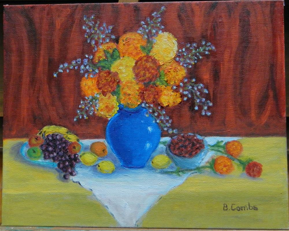 """Fall Bounty"" original fine art by Bebe Combs"
