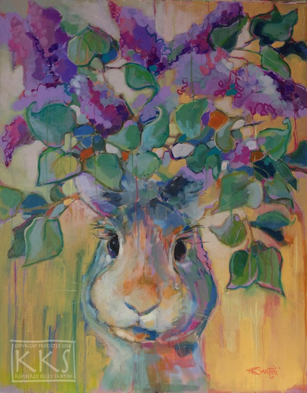 """Lilacs"" original fine art by Kimberly Santini"