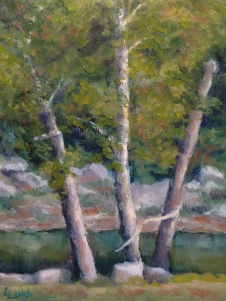 """""""Tree Trio"""" original fine art by Lori L. Lamb"""