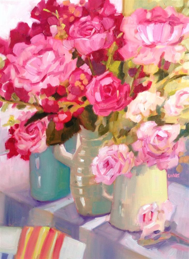 """Window Dressing"" original fine art by Libby Anderson"