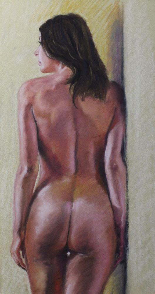 """Standing nude"" original fine art by Marco Vazquez"