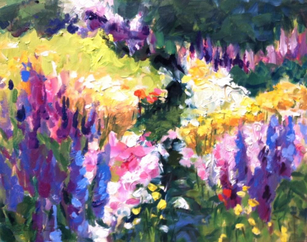 """""""Stonington Wildflowers"""" original fine art by Lynne Schulte"""