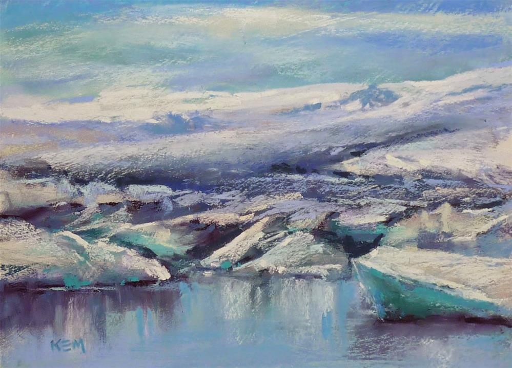 """""""Iceland: Through the Eye's of an Artist  part 12 Icebergs, Glaciers and Arctic Terns"""" original fine art by Karen Margulis"""