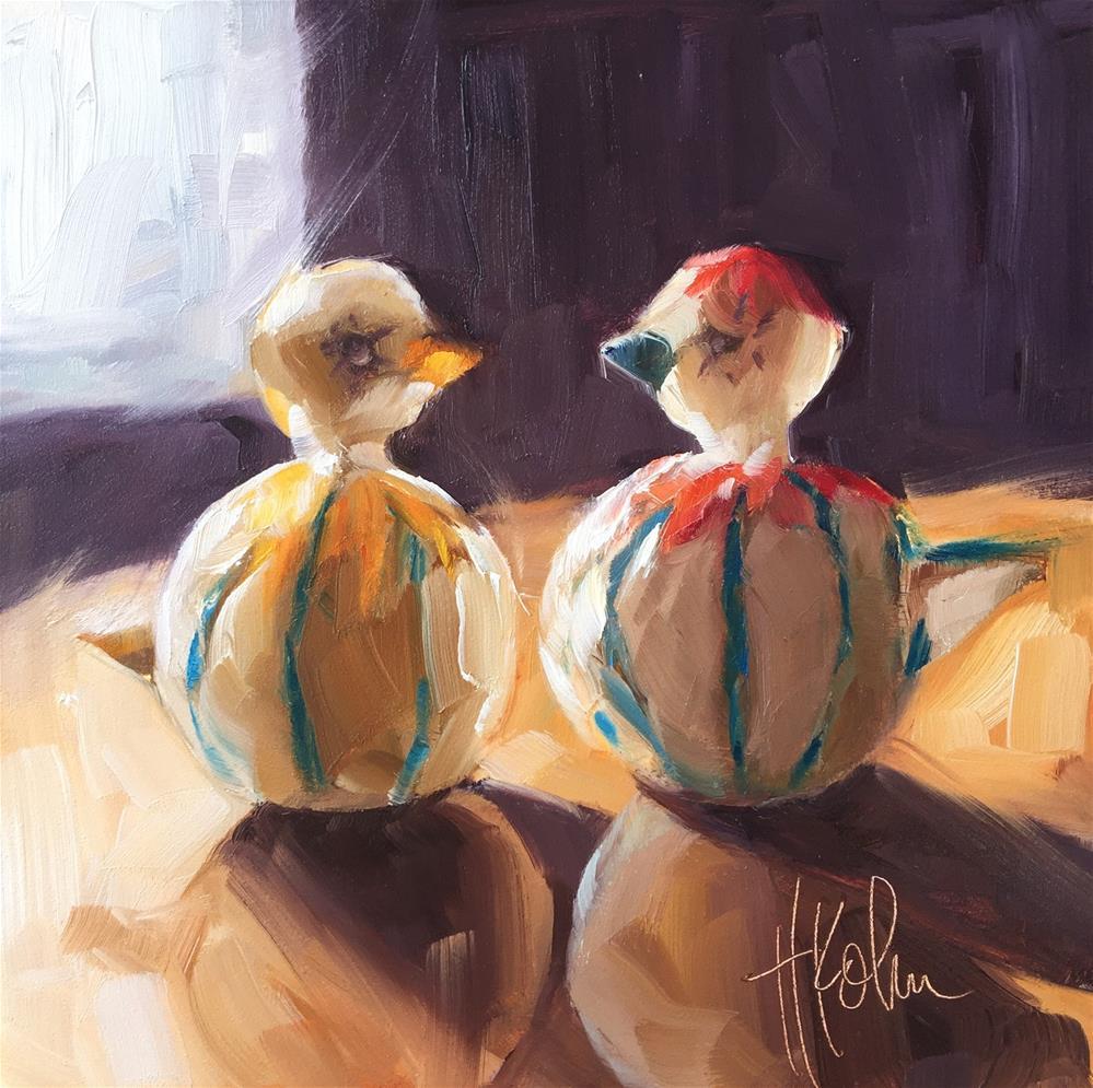 """Salt & Pepper"" original fine art by Hallie Kohn"