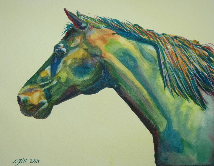 """Paint Pony 8 - Kermit"" original fine art by Lyn Gill"