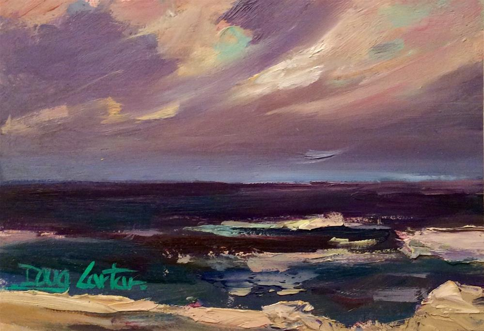 """EVENING BEACH "" original fine art by Doug Carter"