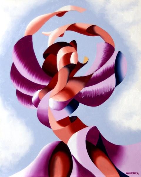 """Mark Webster - Plexus 2 - Abstract Figurative Gesture Oil Painting"" original fine art by Mark Webster"