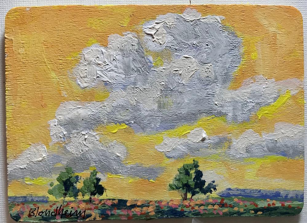 """""""Late Clouds"""" original fine art by Linda Blondheim"""