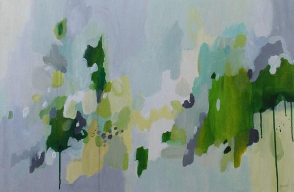 """""""Green Journey"""" original fine art by Pamela Munger"""