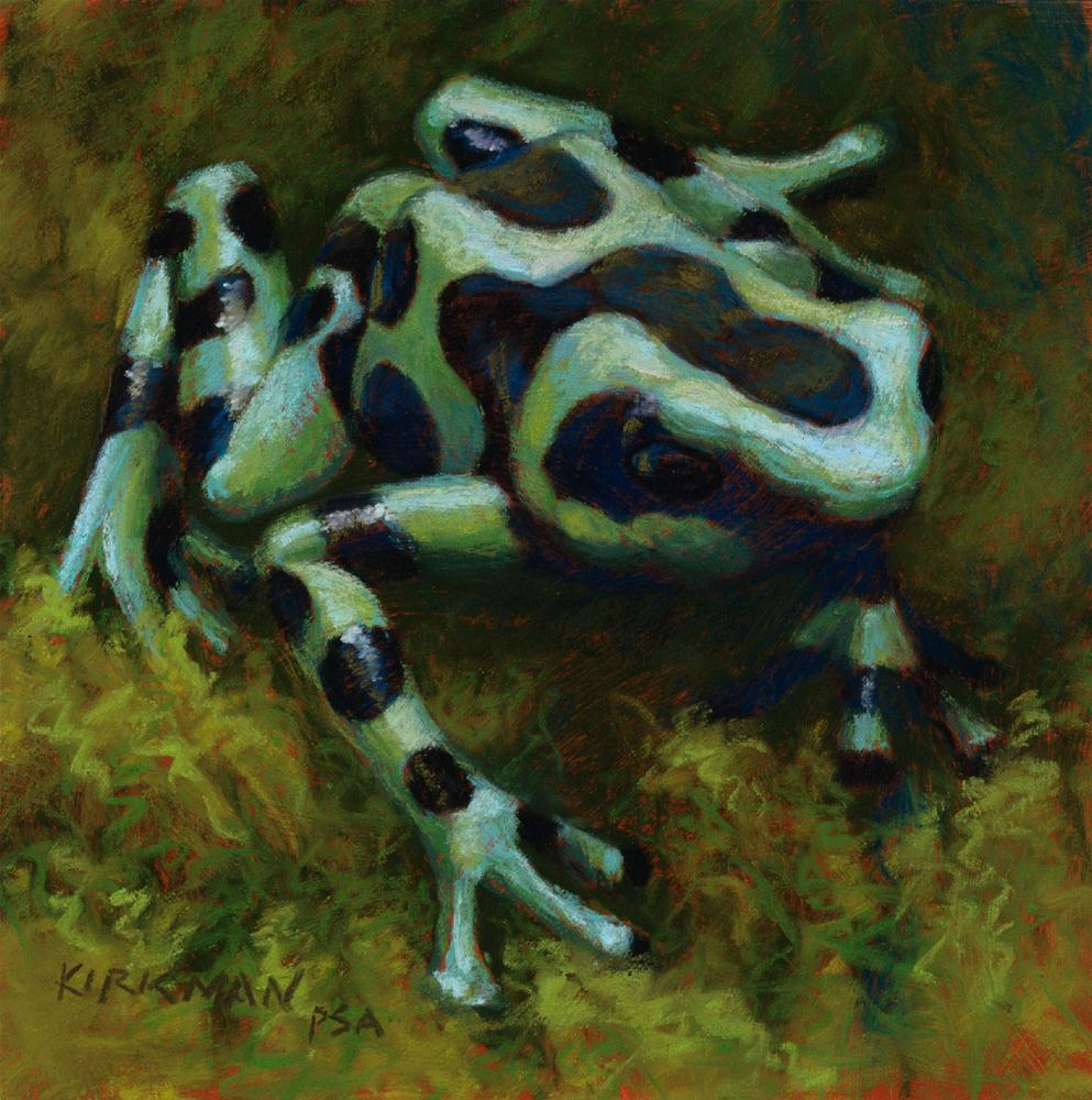 """Frog #14 (Pocket Frog)"" original fine art by Rita Kirkman"