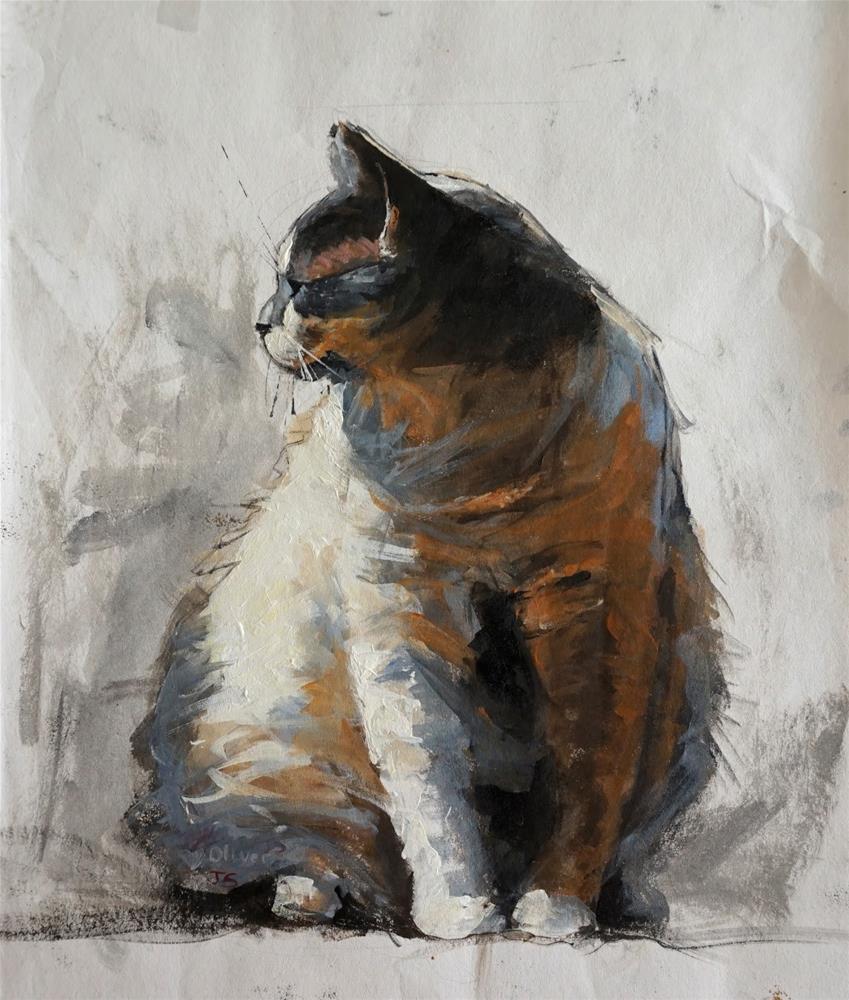"""Oliver"" original fine art by Jonelle Summerfield"