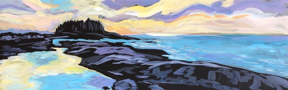 """Morning Light, March, Artists' Point"" original fine art by Kat Corrigan"
