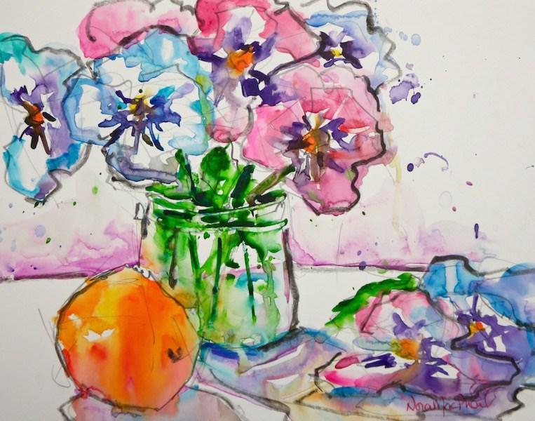 """take centre stage"" original fine art by Nora MacPhail"
