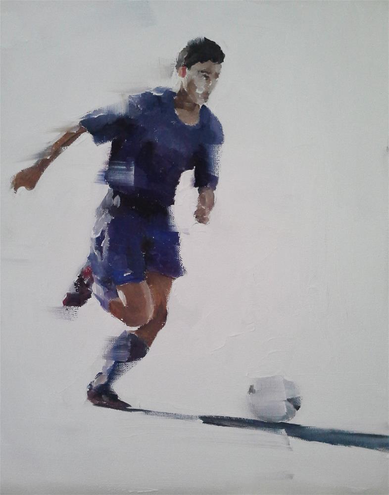 """Going for Goal"" original fine art by James Coates"