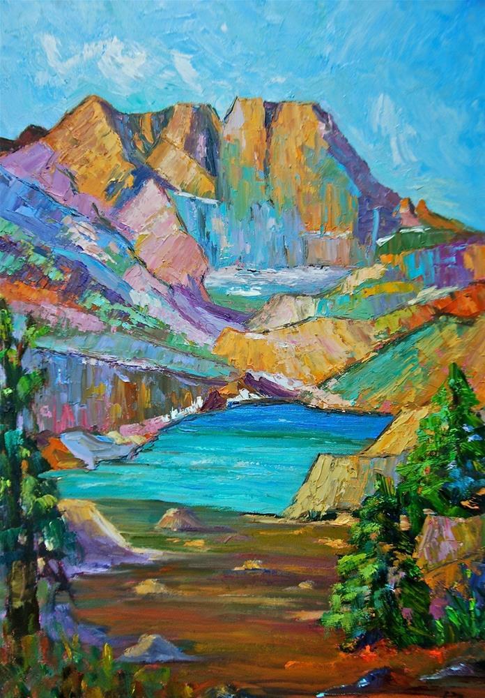 """Long's Peak Majesty"" original fine art by Liz Zornes"