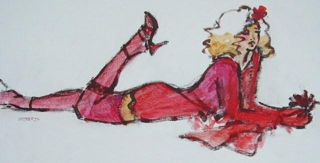 """Minx, Horizontal"" original fine art by Nancy Roberts"