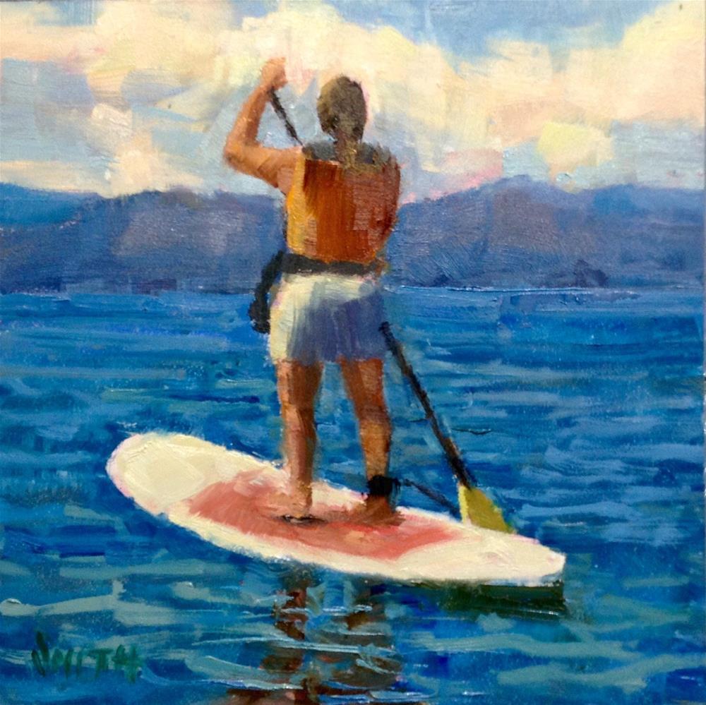 """Paddle On"" original fine art by Barbie Smith"