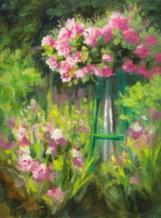 """""""Rose Arbor II"""" original fine art by Pat Fiorello"""