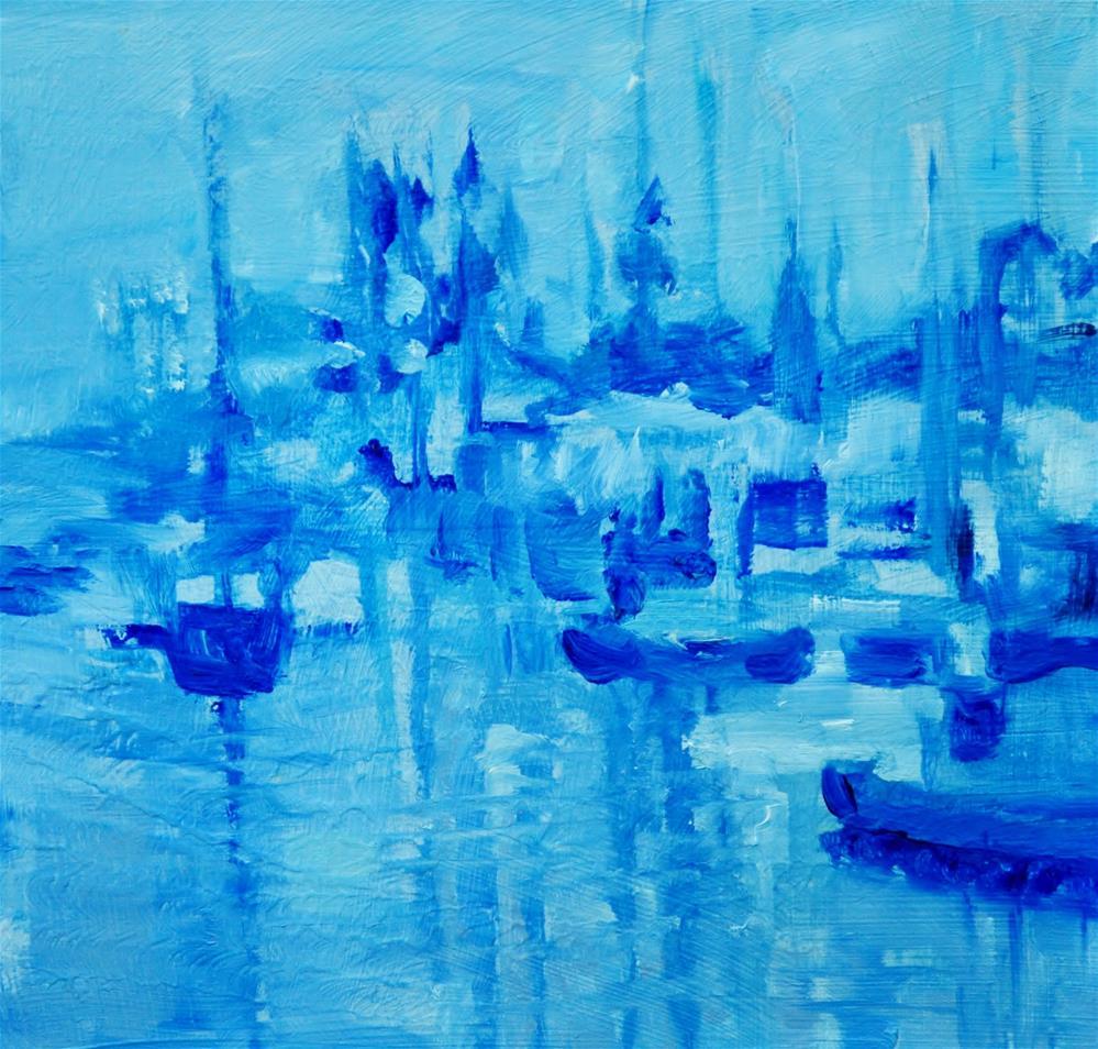 """Foggy Pier"" original fine art by Catherine Crookston"