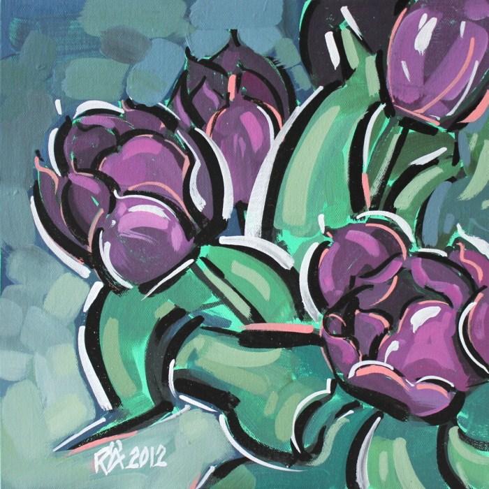 """Tulips 3"" original fine art by Roger Akesson"