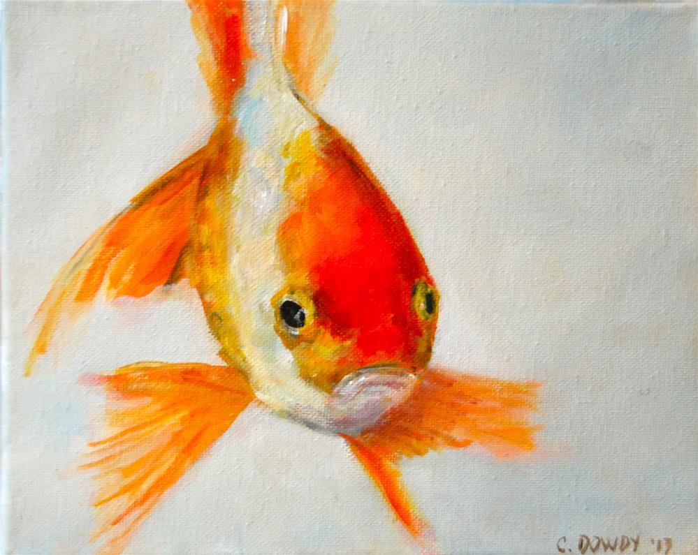 """""""No More Fish Food? Part iV"""" original fine art by Christina Dowdy"""