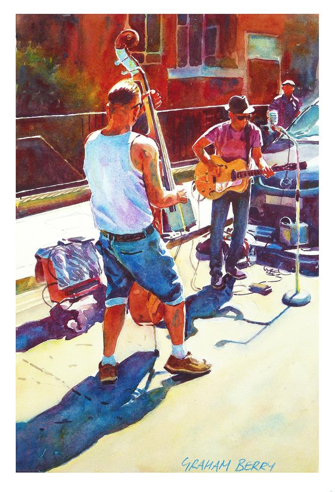 """""""Two buskers."""" original fine art by Graham Berry"""